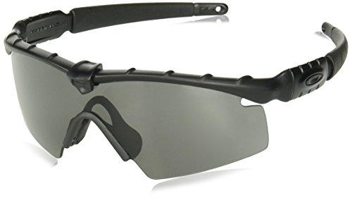 Oakley M Frame 2.0 Strike Shield Sunglasses, Matte Black w/Grey, 130 ()