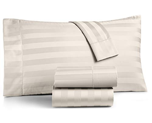 Charter Club Damask Stripe Full 4-Pc Sheet Set, 550 Thread Count 100% Supima ()