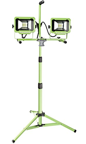 - PowerSmith PWL2140TS Dual-Head 40W 4000 Lumen LED Work Light with Metal Lamp Housing and Telescoping Tripod(9 Ft Power Cord)