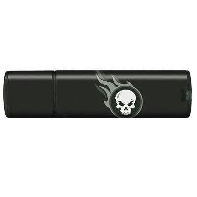 2 Gb Splash Drive - 2GB Splash USB/flaming Skull