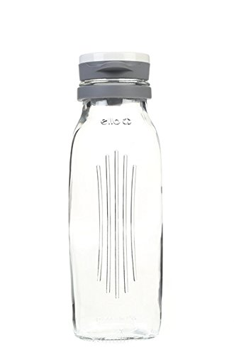 Ello Elsie BPA-Free Glass Water Bottle, 22 oz, Radiant Gray