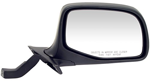 Dorman 955-228 Manual Black and Chrome Replacement Passenger Side (Side Black Manual Mirror)