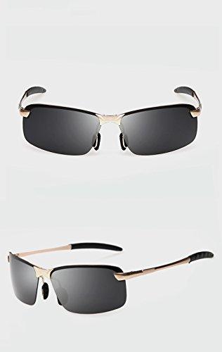 de de Color B sol aleación hombres sol magnesio Gafas Gafas de Gafas QQB sol Gafas y polarizadas de C Gafas de gafas para aluminio Conducción awqBIgt