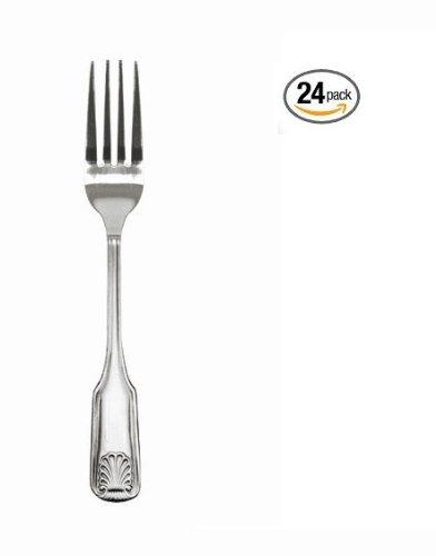 (24 Pack) Wholesale Stainless Steel Dinner Fork, Classic Shell Design (Salad Fork Shell)