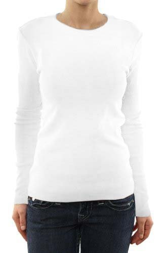 G2 Chic Women's Long Sleeve Crewneck Layer T-shirt for Medical Scrubs(TOP-MED,WHTA1-S)