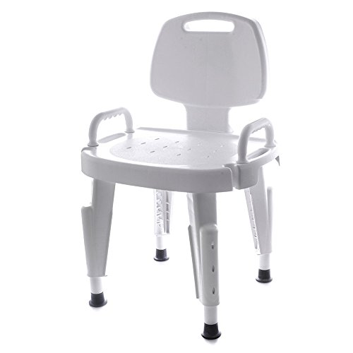 Maddak Adjustable Shower Seat with Back and Arms (727142121)