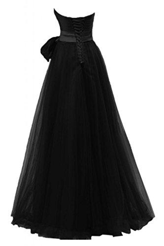 di matrimonio nastro lunghezza Tulle cuori per sera con Sunvary da Nero elegante abito 8wqHxaEft