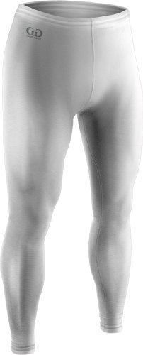 Men's and Women's Sports Compression, Ankle Length Tight-Great for Football, Baseball, Skating and Field Hockey-Made with Light Weight, Moisture Wicking, Odor Protective Fabric-Sizes SM-XXXL (Large, White)