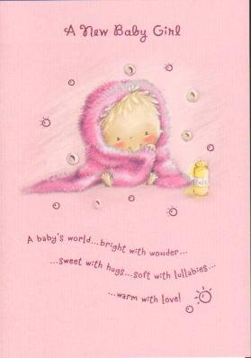 Baby girl new baby greetings cards amazon kitchen home baby girl new baby greetings cards m4hsunfo Choice Image