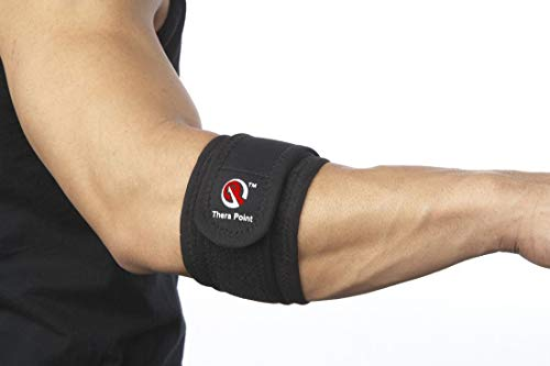 Tennis Elbow Cuff - Thera Point Accupressure Tennis Elbow Brace with Compression Pad for Tendonitis, Relief for Men & Women with Golfer's Elbow, Comfortable Sleeve for Golf Elbow Treatment