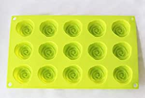 15 Cavity Flowers Silicone Non Stick Cake Mould 