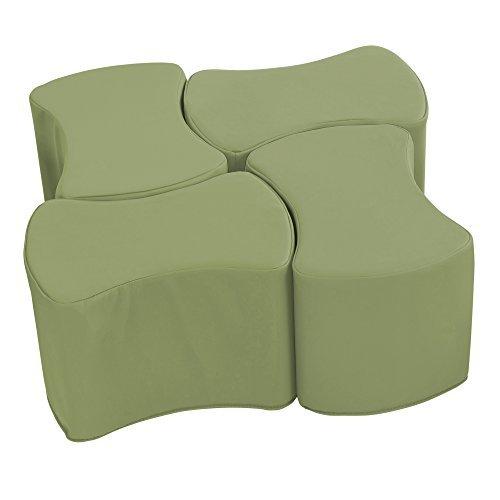 ECR4Kids SoftZone Butterfly Stool Modular Seating Set for Kids Fern Green(4-Piece) [並行輸入品] B07N8CVXDV