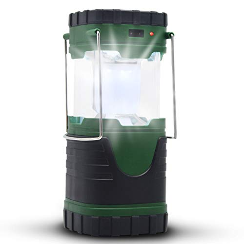 ZUYE Camping Lantern,Rechargeable Camp Light Solar LED Battery Powered 3 Charging Modes Camping Lamp Camping Lights Accessories Survival Kit Camping Emergency Hurrican, Outage (Green)