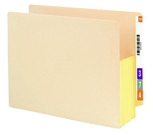 Smead End Tab File Pocket, Reinforced Straight-Cut Tab, 5-1/4