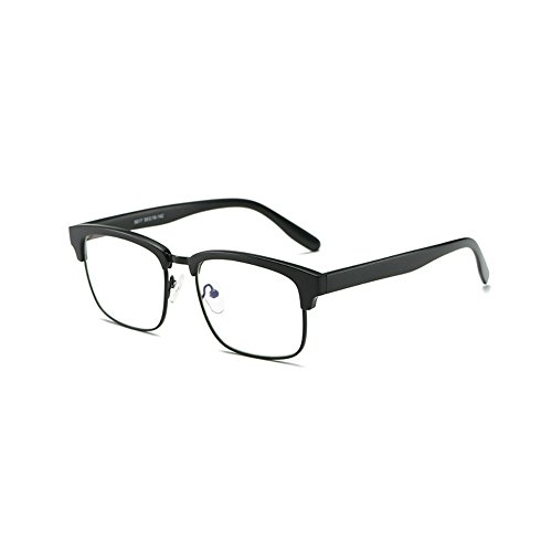 Price comparison product image Teddith Computer Reading Glasses Blue Light Blocking Anti Glare Lens TR90 Frame (Black)