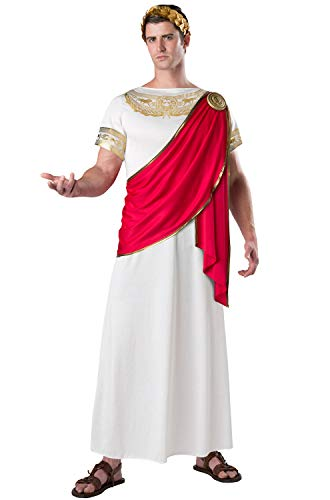 Fun World Men's Julius Caesar, White/Red XL ()