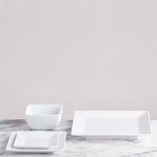 Q Squared Diamond White BPA-Free Melamine Large Rectangle Platter, 17-1/4 by 10-1/2, White by Q Squared (Image #4)