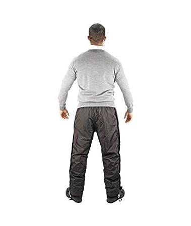 Nero Down Plus Pantalone 4 Stagioni 100/% Impermeabile Tessuto Esterno in Poliestere XL OJ