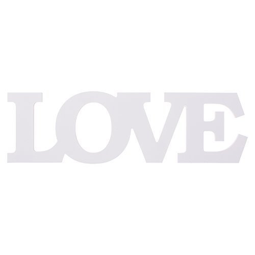 MOWO Wooden Letter LOVE Table Top Freestanding Sign Centerpiece (white,1pc)