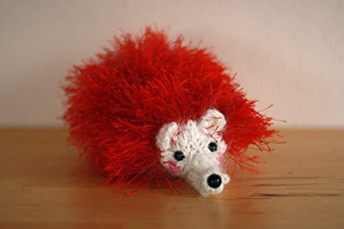Hand Knit Hedgehog Plushie