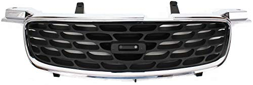 2002 Nissan Sentra Grille - Grille Assembly Compatible with 2000-2003 Nissan Sentra Chrome Shell/Painted Black Insert CA/GXE/SE Models