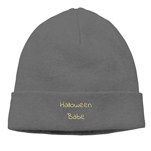 BOBOSELL Slouchy Beanie Hats Winter Knitted Caps Soft Warm Ski Hat -Halloween Babe -