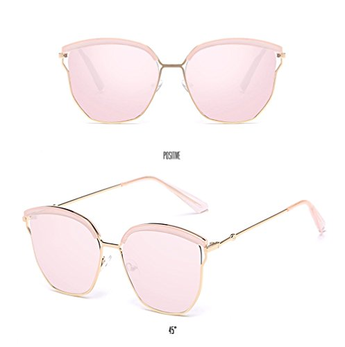 Sun Fashion Sunglasses Men Unisex Cherry Special Coolest Sunglasses Tide Polarized Protection Eyewear Women Glasses Frame Pink Pink Lens Mirror UV Driving Street EwwqSp