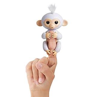 Fingerlings Glitzer Äffchen weiß Sugar 3763 interaktives Spielzeug, reagiert auf Geräusche, Bewegungen und Berührungen 6