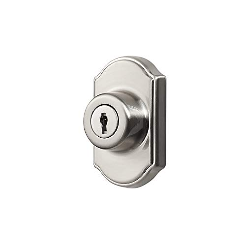 Ideal Security Inc. SK703SS DX Keyed Deadbolt for Storm and Screen Doors Easy to Install, Satin Silver