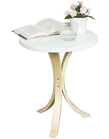 SoBuy® FBT29-W,Mesa velador, Mesa de café, Mesa auxiliares de