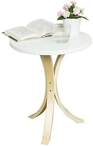 SoBuy® FBT29-W,Mesa velador, Mesa de café, Mesa auxiliares de Madera,ES (Blanco)