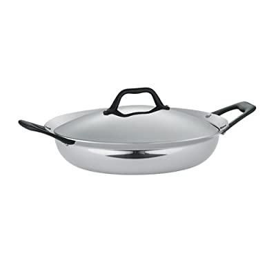 Tramontina Limited Editions Barazzoni 3 Quart Stainless Steel Covered Tri-Ply Clad Everyday Pan