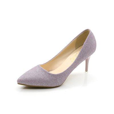 matrimonio singola viola calzatura fine con tacco 7 sposa nero Madre Punta alta argento banchetto 39 scarpe scarpe cm matrimonio di accompagnato wxnfZUqv