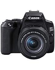 كانون كاميرا رقمية اي او اس 250D، 18 - 55 ملم، 24.1 ميجابكسل، اسود