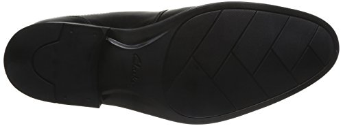 uomo Kalden Edge Black Derby Scarpe Clarks Leather lacci con Nero YRZqB