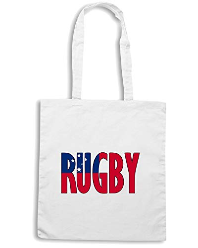 Speed Shirt Borsa Shopper Bianca TRUG0060 RUGBY SAMOA