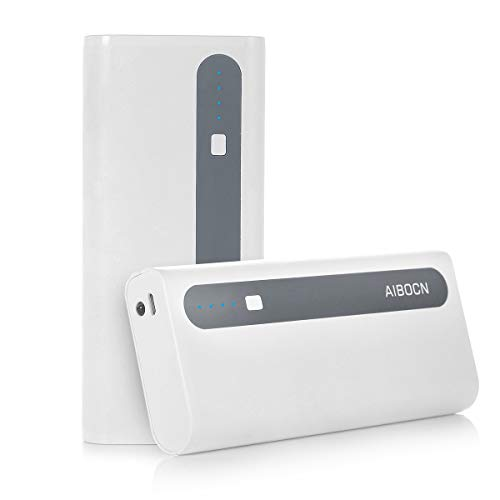 Aibocn 10000mAh Power Bank Portable Charger External Battery Pack with Flashlight for Phone Tablet, Grey