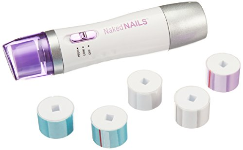 Finishing Touch Naked Nails Electronic Nail Care System, File/Buff and Shine Effortlessly