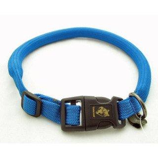 "Timberwolf Alpine Rope Dog Collar ~Blue~ 7/16""x 16"""