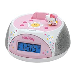 Hello Kitty Stereo Clock Radio/ Recharging Station for iPod