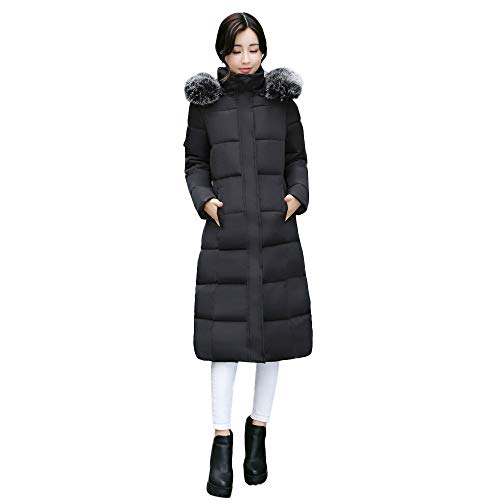 Sunyastor Women Down Coats,Fashion Plus Size Solid Casual Thicker Winter Warm Slim Jacket Hoodies Overcoat