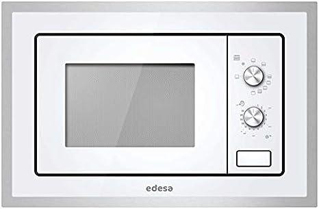 Edesa EMW-2010-IG XWH Integrado - Microondas (Integrado, Microondas con grill, 20 L, 800 W, Giratorio, Blanco)