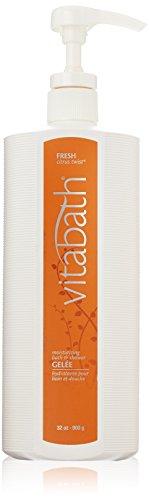 Vitabath Fresh Citrus Twist Moisturizing Bath & Shower Gelee - 32 oz - 32 Ounce Moisturizing Bath