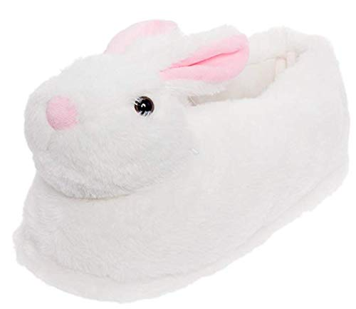 NORTY - Girls Bunny Head Animal Slippers, White 40758-S/M