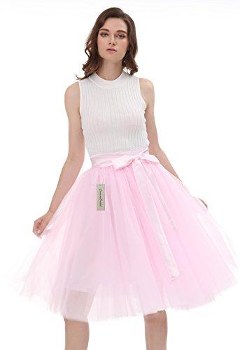 Vintage ud Jupe 50 Jupon Annes Rose Tutu Couches CoutureBridal voile avec Tulle de Femme Courte 5 N qPXfBFx