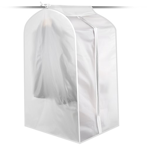 Foldable Dust-proof Garment Bag, Clothes Suit Garment Cover Storage Bag for Dresses Suits Coats Shirts Skirts Jackets Trousers Uniforms (LARGE SIZE) -
