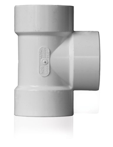 (NDS 3P01 PVC Sewer Drain Tee, 3-Inch, White)
