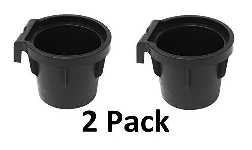 (JSP Manufacturing (2) Cup Holder Inserts 2005-2014 Nissan Frontier, Xterra, 2005-2012 Pathfinder Rubber Cup Beverage Holder)