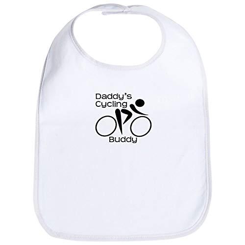 CafePress Daddy's Cycling Buddy Bib Cute Cloth Baby Bib, Toddler Bib