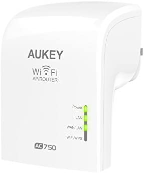 repetidor y router WiFi Aukey AC 750